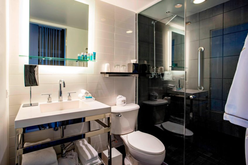 W Chicago Lakeshore Luxury Hotel - Chicago, IL, USA - Wonderful Accessible Guest Bathroom
