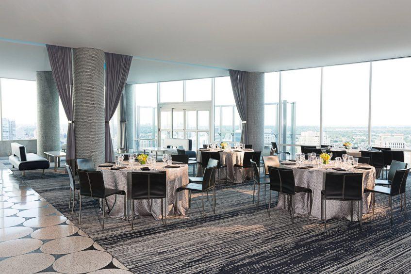 W Dallas Victory Luxury Hotel - Dallas, TX, USA - Altitude Tables Banquet Setup