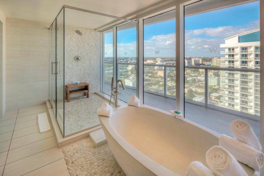 W Fort Lauderdale Luxury Hotel - Fort Lauderdale, FL, USA - Wow Suite Bathroom