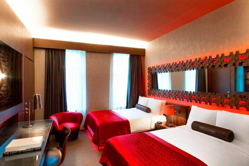 W Istanbul Luxury Hotel - Istanbul, Turkey - Wonderful Room Twin Bed