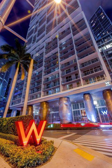 W Miami Luxury Hotel - Miami, FL, USA - W Hotel Night