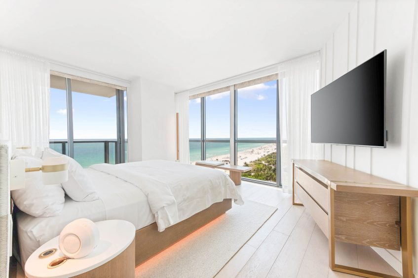 W South Beach Luxury Hotel - Miami Beach, FL, USA - E Wow Suite Second Bedroom