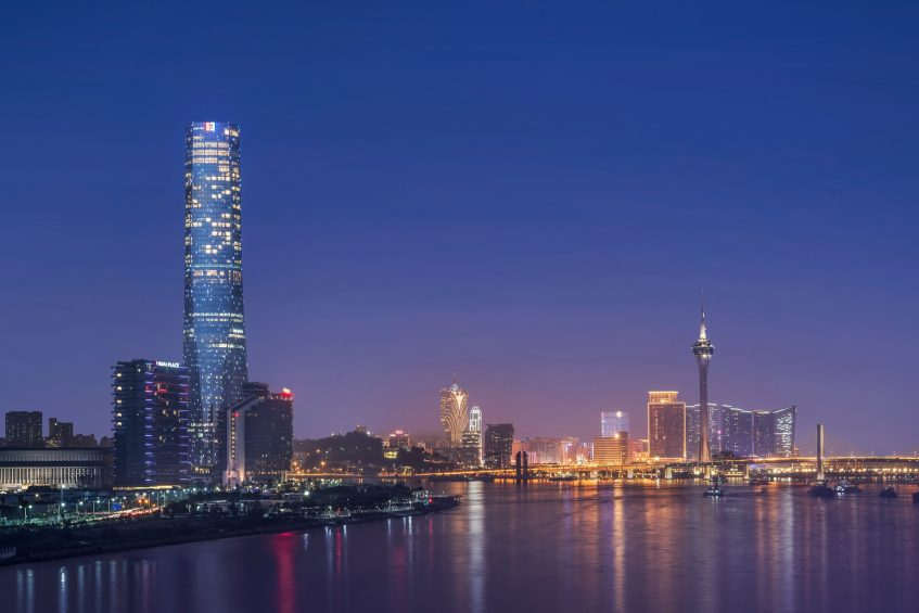 The St. Regis Zhuhai Luxury Hotel - Zhuhai, Guangdong, China - Hotel Exterior Night