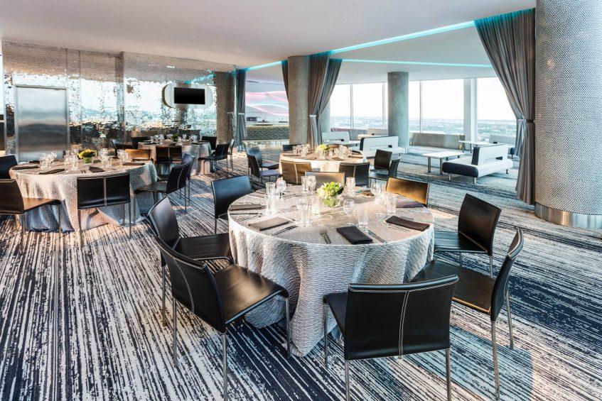 W Dallas Victory Luxury Hotel - Dallas, TX, USA - Altitude Table Setting Banquet Setup