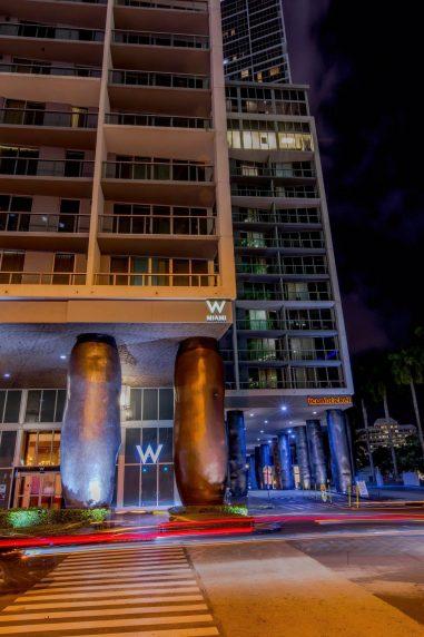 W Miami Luxury Hotel - Miami, FL, USA - Night View