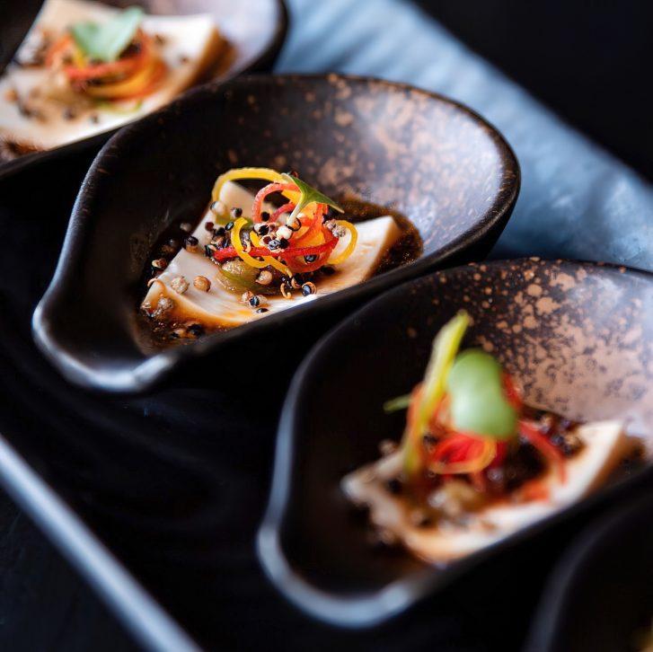 The St. Regis Mumbai Luxury Hotel - Mumbai, India - Bean Curd Carpaccio a Japanese Classic