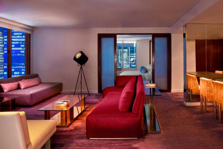 W New York Times Square Luxury Hotel - New York, NY, USA - Wow Suite Living Area
