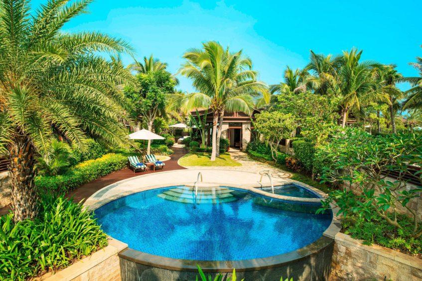 The St. Regis Sanya Yalong Bay Luxury Resort - Hainan, China - Seaside One Bedroom Villa Pool Aerial