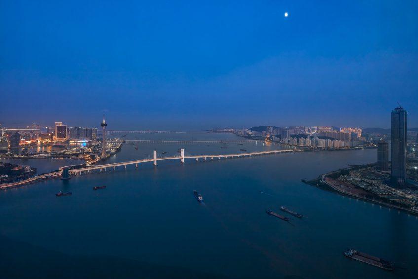 The St. Regis Zhuhai Luxury Hotel - Zhuhai, Guangdong, China - Presidential Suite Night Ocean View