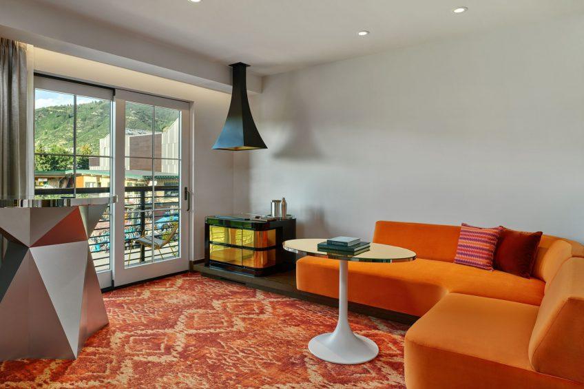 W Aspen Luxury Hotel - Aspen, CO, USA - Wow Suite Living Room View