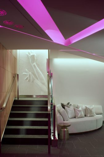 W Los Angeles West Beverly Hills Luxury Hotel - Los Angeles, CA, USA - Pre Function Stairs