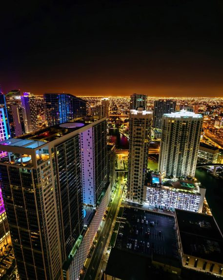 W Miami Luxury Hotel - Miami, FL, USA - Night City View