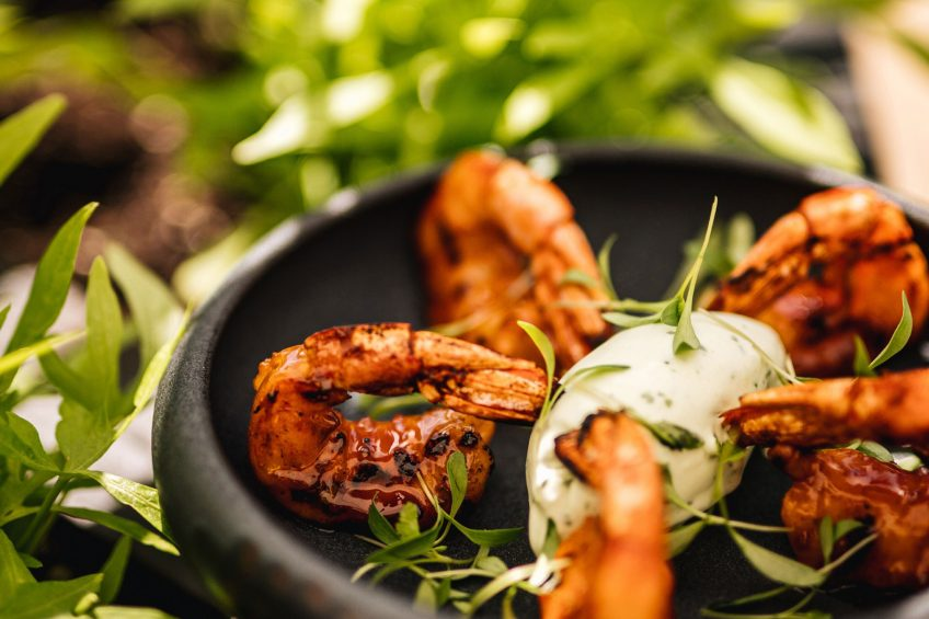 W Montreal Luxury Hotel - Montreal, Quebec, Canada - Grilled Shrimp