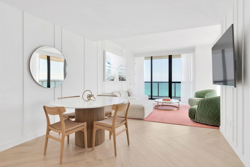 W South Beach Luxury Hotel - Miami Beach, FL, USA - Cool Corner Suite Table
