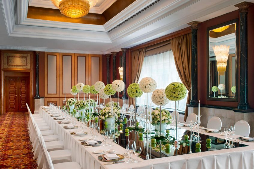 The St. Regis Beijing Luxury Hotel - Beijing, China - Great Hall Banquet Table Setting