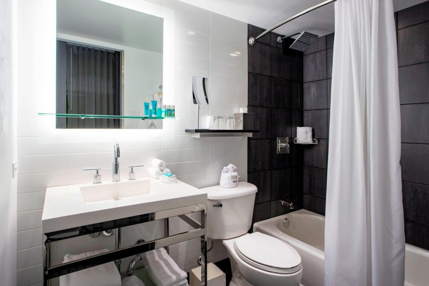 W Chicago Lakeshore Luxury Hotel - Chicago, IL, USA - Wonderful Guest Bathroom Vanity