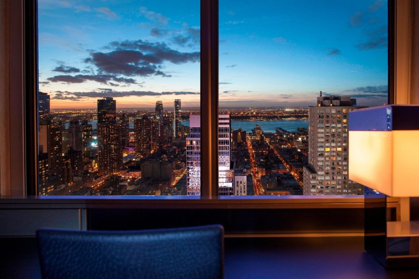 W New York Times Square Luxury Hotel - New York, NY, USA - Cool Corner Hudson View Guest Room West View