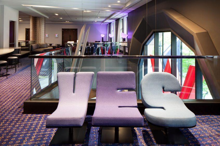 W Seattle Luxury Hotel - Seattle, WA, USA - Second Floor Pre Function YES Sofa