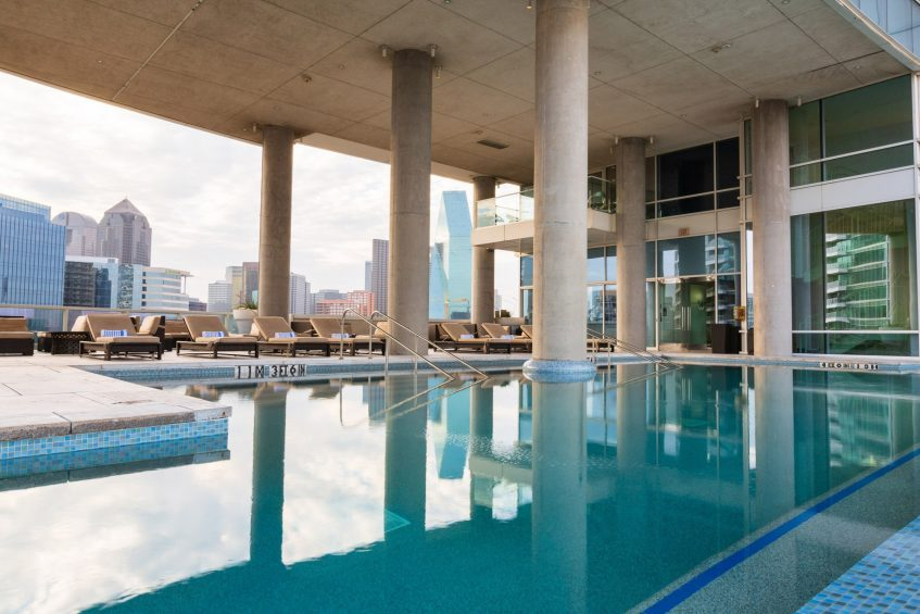 W Dallas Victory Luxury Hotel - Dallas, TX, USA - WET Outdoor Infinity Edge Pool Deck
