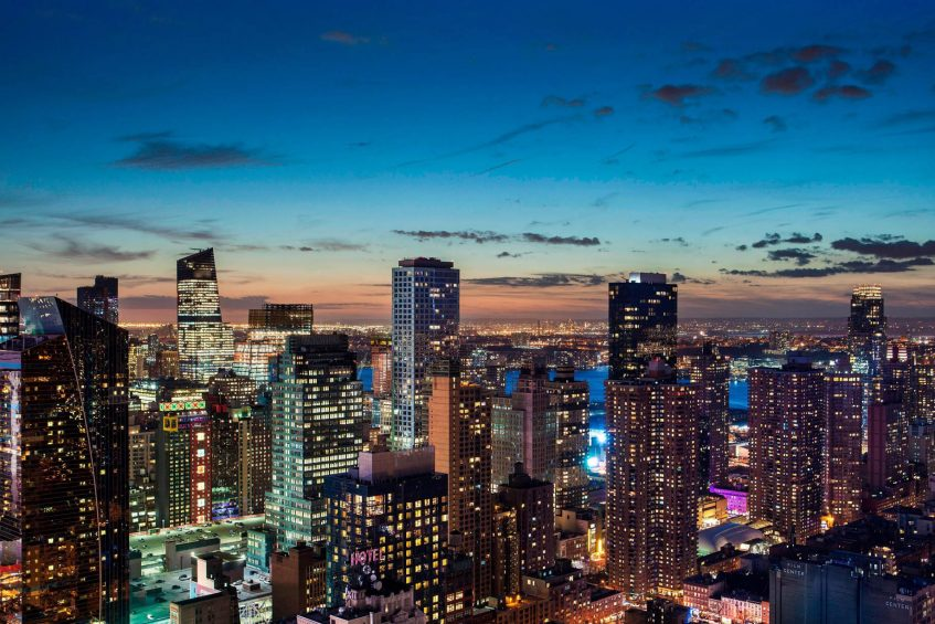 W New York Times Square Luxury Hotel - New York, NY, USA - Southwest City View Night