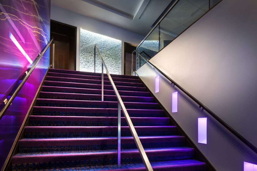 W Seattle Luxury Hotel - Seattle, WA, USA - Stairwell Leading To Second Floor Function Space