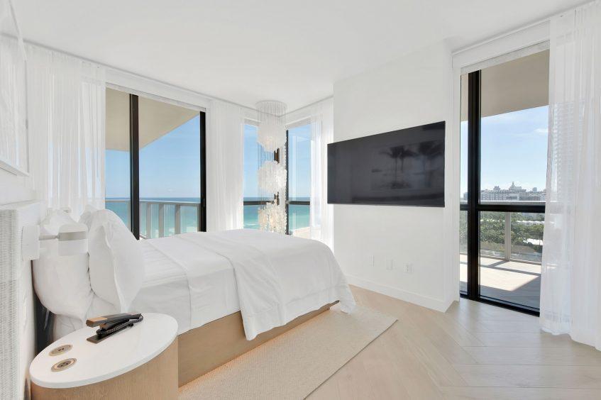 W South Beach Luxury Hotel - Miami Beach, FL, USA - Cool Corner Suite Bed