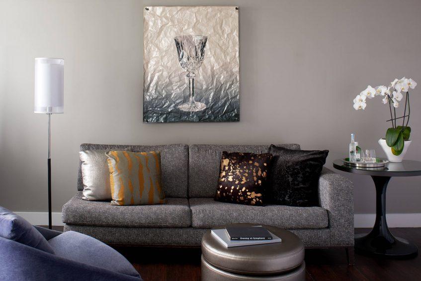 W Boston Luxury Hotel - Boston, MA, USA - Marvelous Suite Living Area