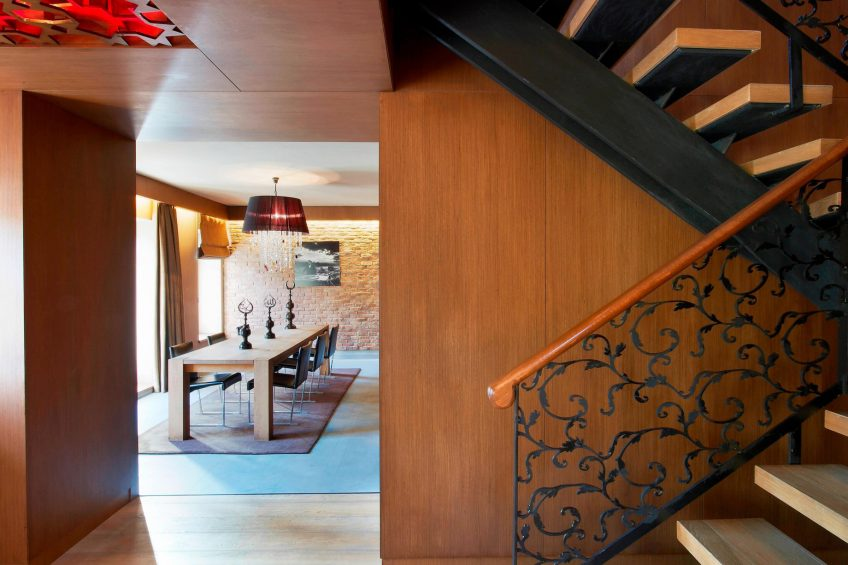 W Istanbul Luxury Hotel - Istanbul, Turkey - Wow Suite Dining Room Stairs