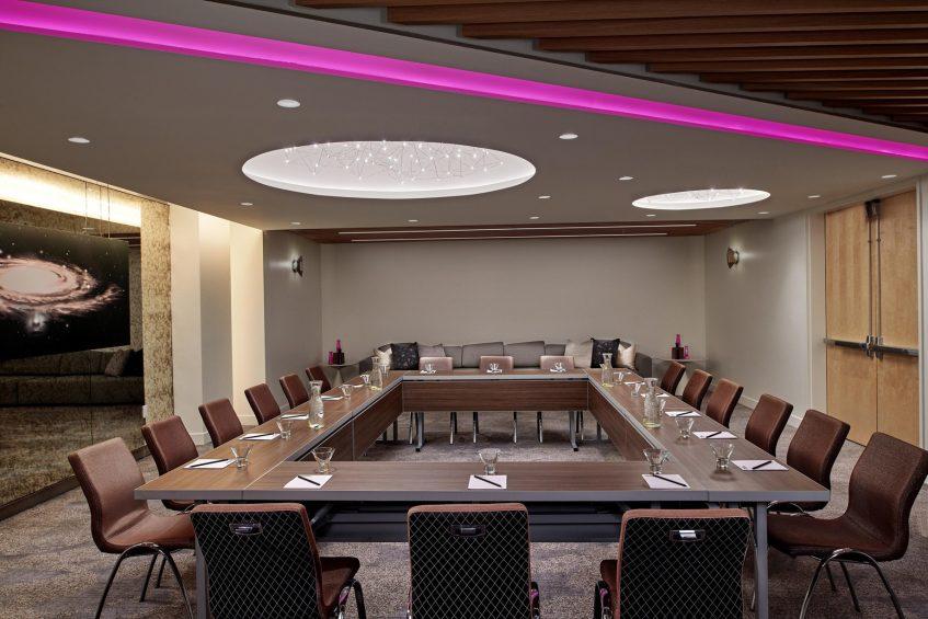 W Los Angeles West Beverly Hills Luxury Hotel - Los Angeles, CA, USA - Gallery B Meeting Setup