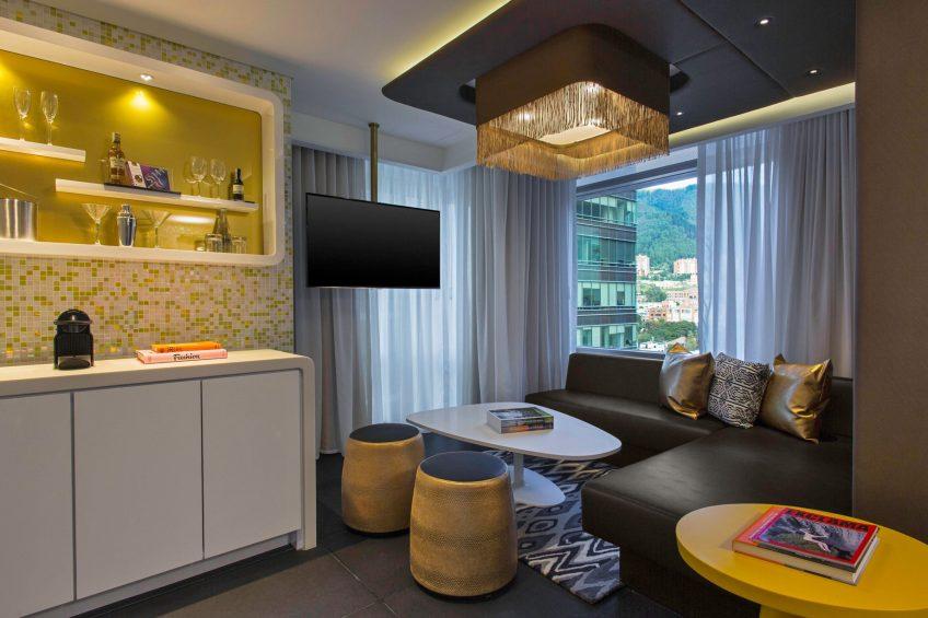 W Bogota Luxury Hotel - Bogota, Colombia - Marvelous King Suite Living Room