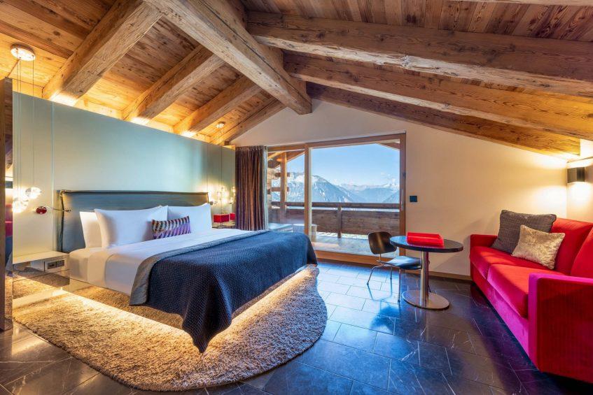 W Verbier Luxury Hotel - Verbier, Switzerland - Cool Suite Bedroom