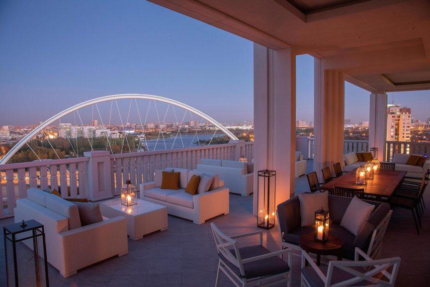 The St. Regis Astana Luxury Hotel - Astana, Kazakhstan - Exterior Terrace Night