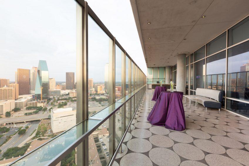 W Dallas Victory Luxury Hotel - Dallas, TX, USA - Altitude Reception Setup View