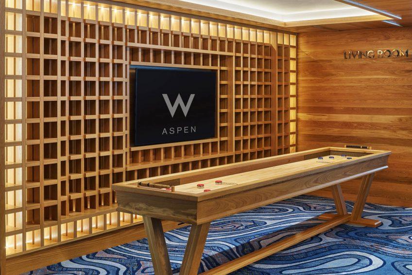 W Aspen Luxury Hotel - Aspen, CO, USA - Shuffleboard