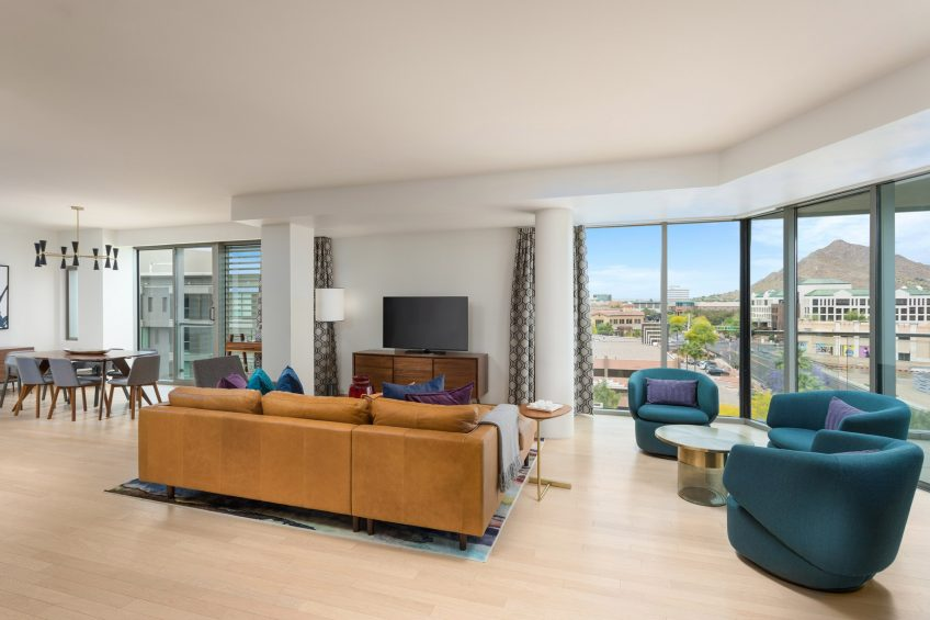 W Scottsdale Luxury Hotel - Scottsdale, AZ, USA - WOW Penthouse Suite Living Area