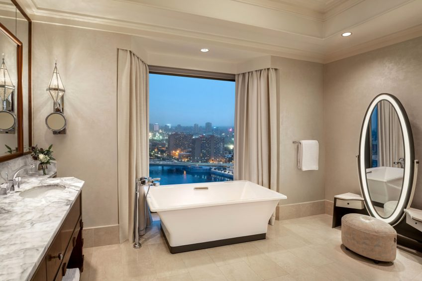 The St. Regis Cairo Luxury Hotel - Cairo, Egypt - Apartment Bathroom