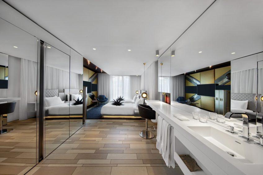 W London Luxury Hotel - London, United Kingdom - Spectacular Twin Guest Room Vanity
