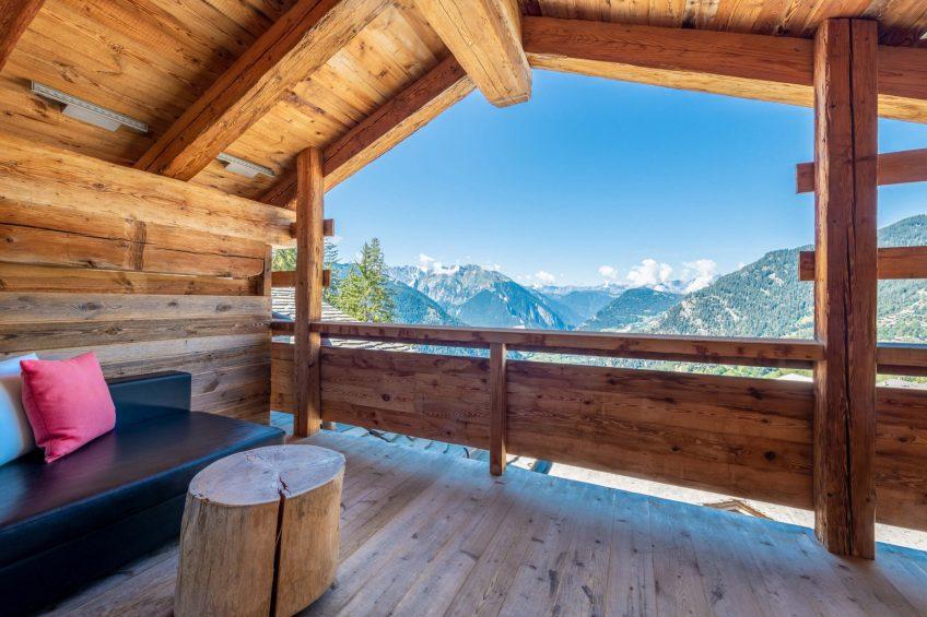 W Verbier Luxury Hotel - Verbier, Switzerland - Cool Suite Terrace View
