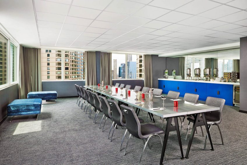 W Chicago Lakeshore Luxury Hotel - Chicago, IL, USA - Skyline Meeting Room
