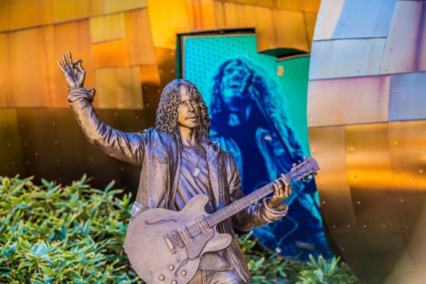 W Seattle Luxury Hotel - Seattle, WA, USA - Chris Cornell Statue