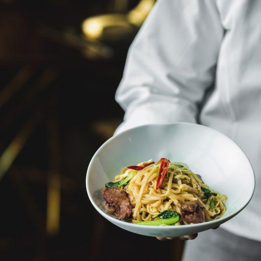 The St. Regis Mumbai Luxury Hotel - Mumbai, India - Wok Fried Lamb Rice Noodles Dish