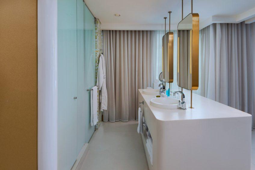 W Bogota Luxury Hotel - Bogota, Colombia - Cool Corner Suite Bathroom