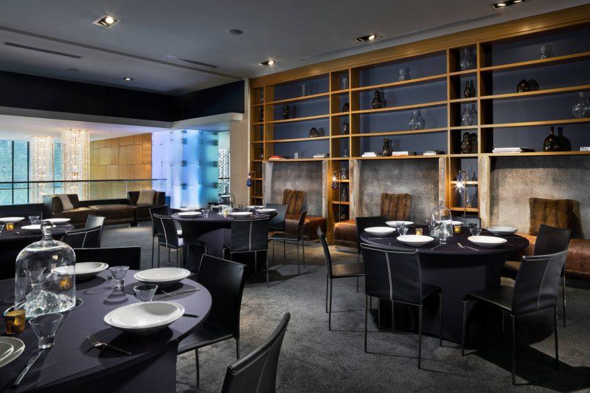W Dallas Victory Luxury Hotel - Dallas, TX, USA - Social Room Banquet Setup