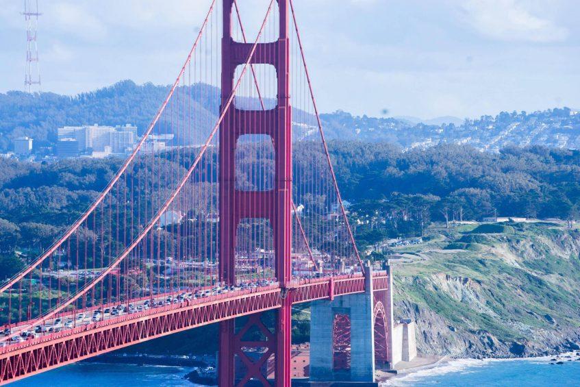 W San Francisco Luxury Hotel - San Francisco, CA, USA - Golden Gate Bridge Detail