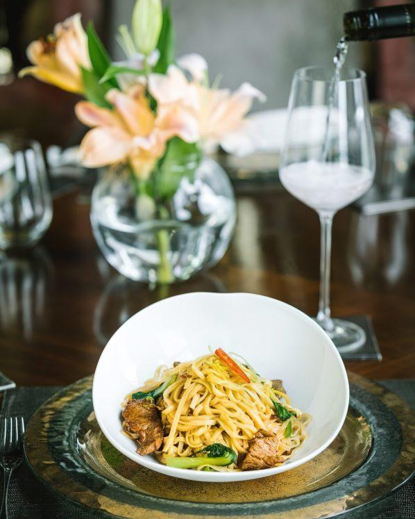 The St. Regis Mumbai Luxury Hotel - Mumbai, India - Wok Fried Lamb Rice Noodles