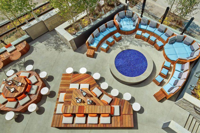 W Aspen Luxury Hotel - Aspen, CO, USA - Living Room Terrace Hot Tub