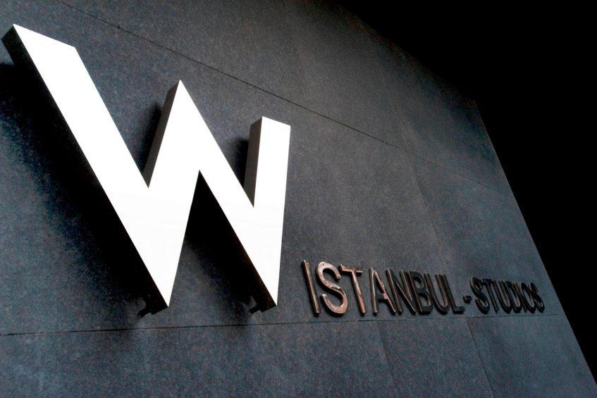W Istanbul Luxury Hotel - Istanbul, Turkey - W Istanbul Studios Sign