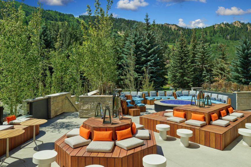 W Aspen Luxury Hotel - Aspen, CO, USA - Living Room Terrace