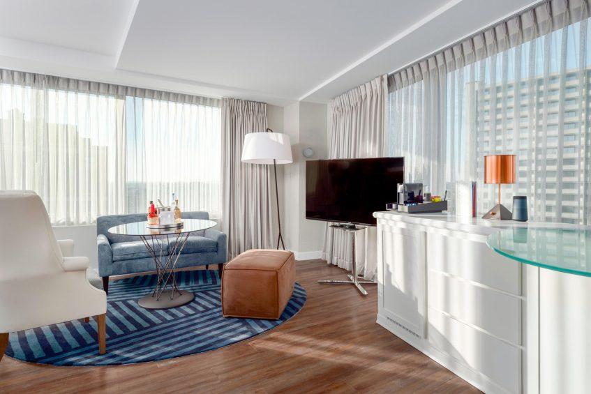 W Boston Luxury Hotel - Boston, MA, USA - Mega Guest Room Interior Living Area
