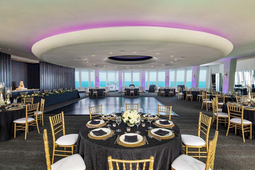 W Chicago Lakeshore Luxury Hotel - Chicago, IL, USA - Altitude Wedding Reception Tables